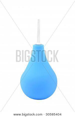 Blue enema syringe