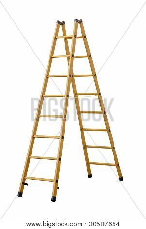 Herringbone ladder(clipping path!)