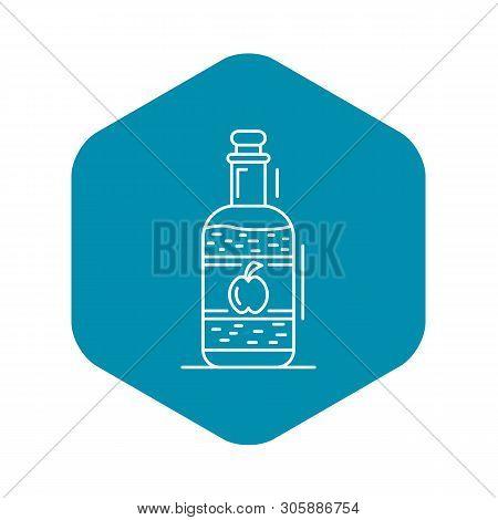 Apple Vinegar Icon. Outline Apple Vinegar Vector Icon For Web Design Isolated On White Background
