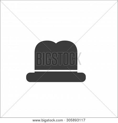 Vintage Top Hat. Male Head Cap. Old Fashion Clothes. Elegent Hat. Gentelmen Style.tophat. Vector Ill