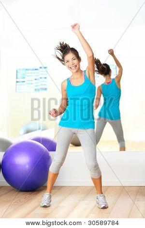 Gym Aerobics Fitness Dance Instructor
