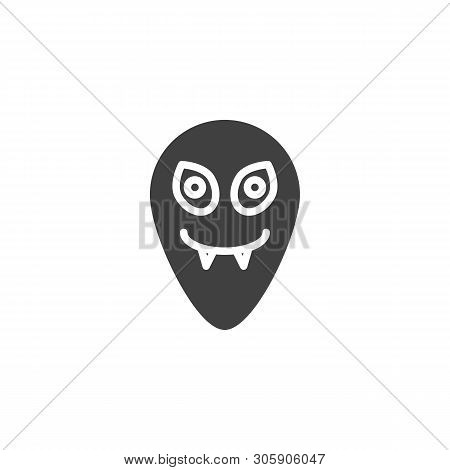 Funny Alien Vector Icon. Ufo Invader Filled Flat Sign For Mobile Concept And Web Design. Humanoid He