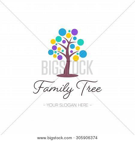 Vector Family Tree Logo Design Nature Symbol