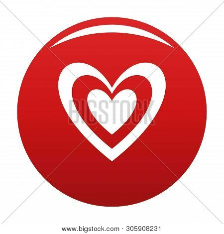 Masculine Heart Icon. Simple Illustration Of Masculine Heart Vector Icon For Any Design Red