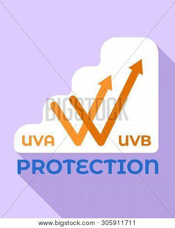 Uva Protection Logo. Flat Illustration Of Uva Protection Vector Logo For Web Design