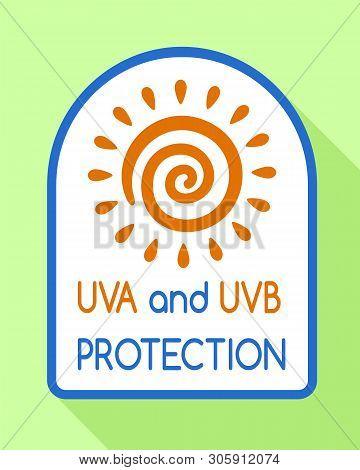 Uvb Protection Logo. Flat Illustration Of Uvb Protection Vector Logo For Web Design