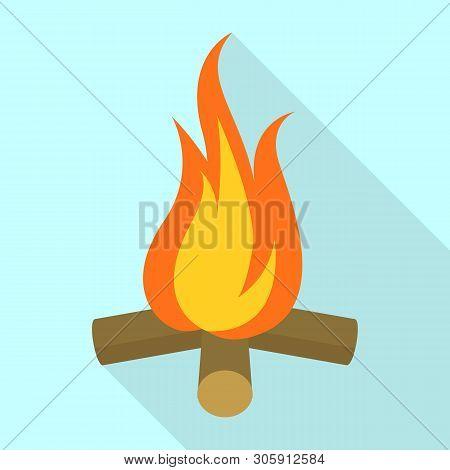 Campfire Icon. Flat Illustration Of Campfire Vector Icon For Web Design