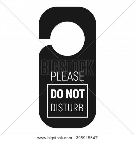 Please Do Not Disturb Hanger Icon. Simple Illustration Of Please Do Not Disturb Hanger Vector Icon F