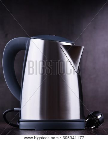 Stainless Steel Electric Cordless Kettle Of One Litre Capacity