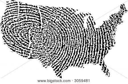 United States Map Fingerprint