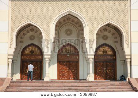 Gate Of Modern Mosque