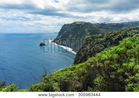 Mountains And Ocean On Northern Atlantic Coast Near Boaventura, Madeira