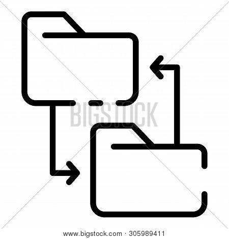 Rewriting The Site Directory Icon. Outline Rewriting The Site Directory Vector Icon For Web Design I