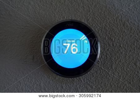 Orlando, Fl/usa-5/22/19: The Nest Learning Thermostat (or Nest Thermostat) Is A Smart Thermostat Tha