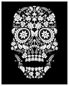 day of the dead skull pattern (raster version) poster