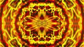 Abstract symmetry kaleidoscope like Mandala ornament, 3d rendering backdrop, computer generating poster