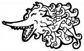 wolf spirit cartoon poster