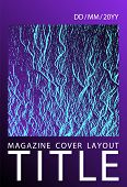 Annual report cover design. Proton purple and cyan blue esports texture. Buzzing flux ripple movement background. Vector template for corporate annual report. Branding profile cover sample. poster