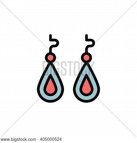 Mothers Day Earrings Outline Icon. Element Of Mothers Day Illustration Icon. Signs And Symbols Can B