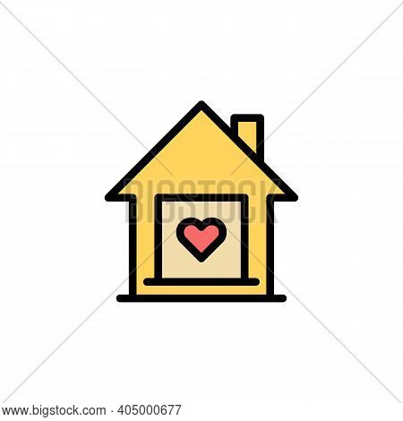 Mothers Day House Outline Icon. Element Of Mothers Day Illustration Icon. Signs And Symbols Can Be U
