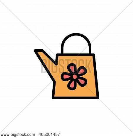 Mothers Day Watering Can Outline Icon. Element Of Mothers Day Illustration Icon. Signs And Symbols C
