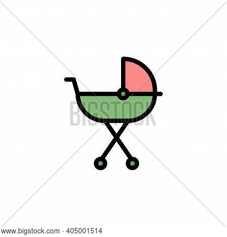 Mothers Day Carriage Outline Icon. Element Of Mothers Day Illustration Icon. Signs And Symbols Can B