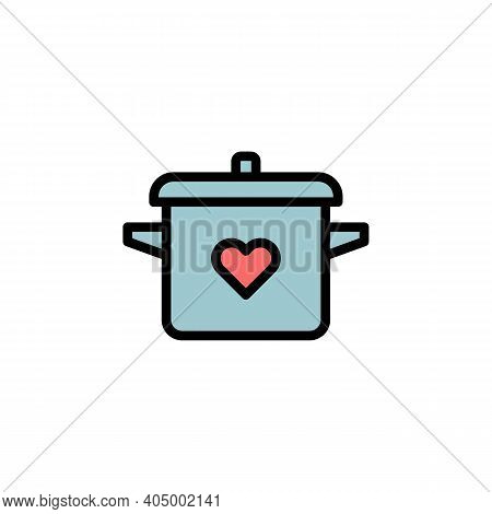 Mothers Day Pot Outline Icon. Element Of Mothers Day Illustration Icon. Signs And Symbols Can Be Use