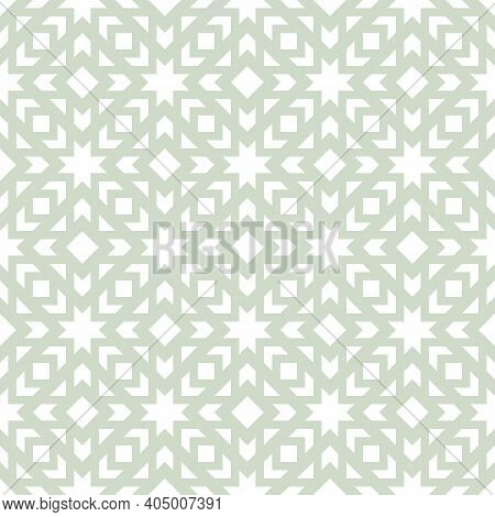 Vector Geometric Ornament. Stylish Seamless Pattern With Crossing Lines, Grid, Net, Lattice, Squares