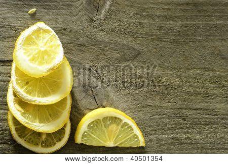 Sliced Lemon Background