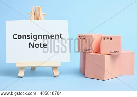 Courier Industry Term Consignment Note. Document For Escorting Cargo