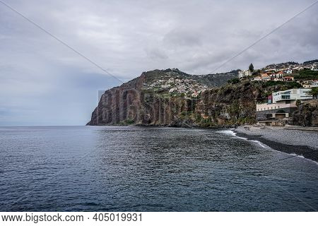 A Photo Of The Cliff Cabo Girao In Madeira, One Of The Highest Cliffs Of The World.
