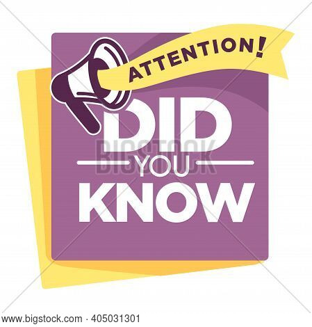 Question Or Interesting Fact Did You Know Isolated Icon Vector Information