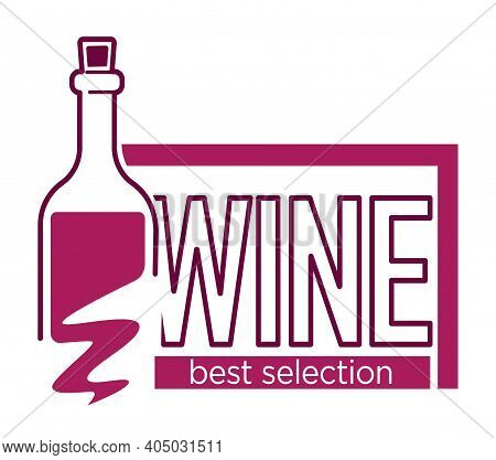 Red And Dry Wine Tasting Place To Drink Wine Logos Vector Set Of Isolated Signs