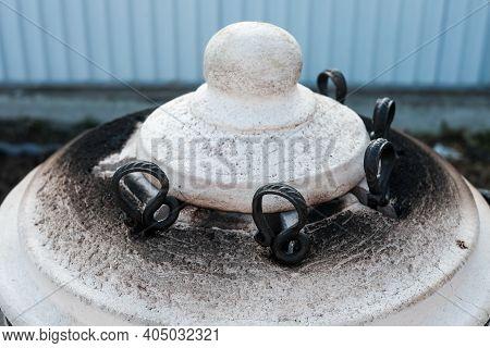 Skewers In The Tandoor. Cooking Kebab Of Meat In A Tandoor