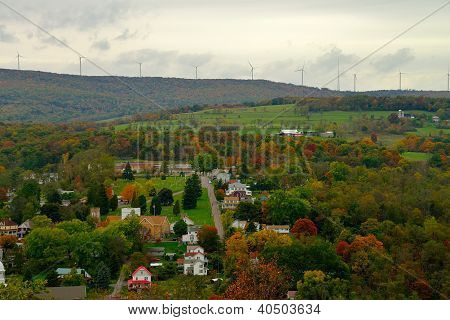 Fall Color Landscape In Rural America