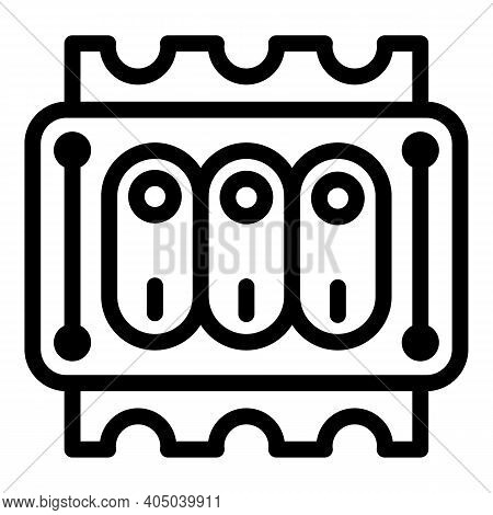 Energy Dashboard Switch Icon. Outline Energy Dashboard Switch Vector Icon For Web Design Isolated On