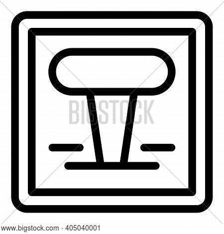 Power Lever Icon. Outline Power Lever Vector Icon For Web Design Isolated On White Background