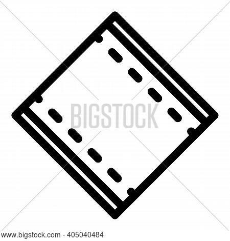 Textile Napkin Icon. Outline Textile Napkin Vector Icon For Web Design Isolated On White Background