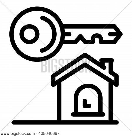 House Rent Icon. Outline House Rent Vector Icon For Web Design Isolated On White Background