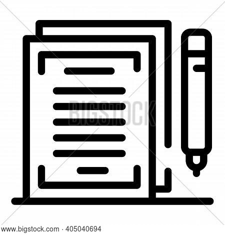 Rental Contract Icon. Outline Rental Contract Vector Icon For Web Design Isolated On White Backgroun