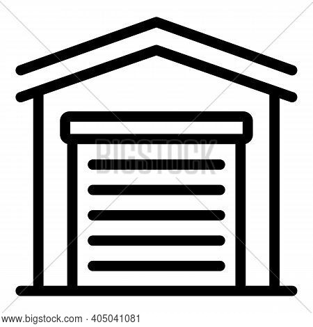 Rental Garage Icon. Outline Rental Garage Vector Icon For Web Design Isolated On White Background
