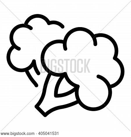Fresh Broccoli Icon. Outline Fresh Broccoli Vector Icon For Web Design Isolated On White Background