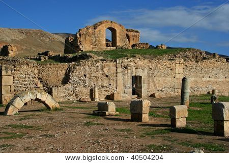 Ancient Roman Archaeological Ruins, Bulla Regia, Tunisia