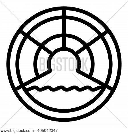 Sewer Icon. Outline Sewer Vector Icon For Web Design Isolated On White Background