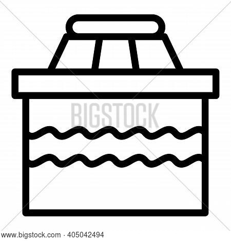 Industry Sewage Icon. Outline Industry Sewage Vector Icon For Web Design Isolated On White Backgroun