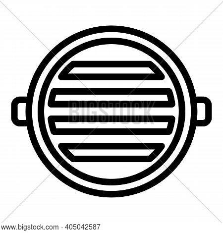 Sewage Manhole Icon. Outline Sewage Manhole Vector Icon For Web Design Isolated On White Background