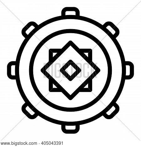 Heavy Manhole Icon. Outline Heavy Manhole Vector Icon For Web Design Isolated On White Background