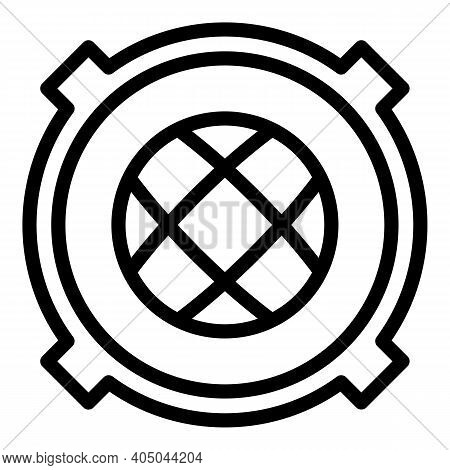 Sewer Manhole Cap Icon. Outline Sewer Manhole Cap Vector Icon For Web Design Isolated On White Backg