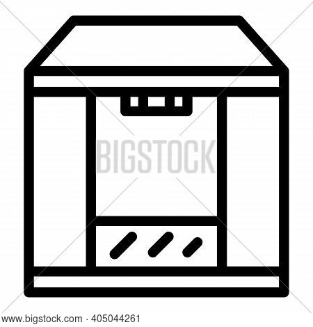 Shower Cabin Icon. Outline Shower Cabin Vector Icon For Web Design Isolated On White Background