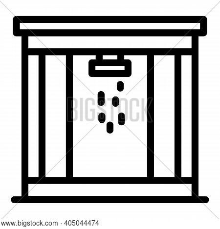 Bathroom Stall Icon. Outline Bathroom Stall Vector Icon For Web Design Isolated On White Background